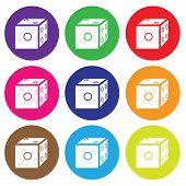 Dice Icon Color Set Vector.eps
