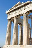 Columns Of Parthenon In Athenian Acropolis