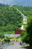 picture of hydroelectric power  - Dai Ninh hydroelectric power plant at Vietnam countryside - JPG