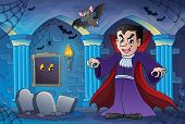 Haunted castle interior theme 3 - eps10 vector illustration.