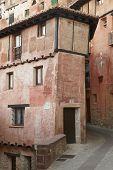 Picturesque House In Albarracin. Red Gypsum. Spain