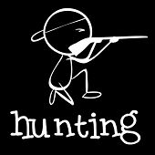 Illustration of a man hunting