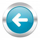 left arrow internet blue icon