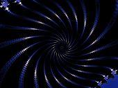 Decorative fractal oral in a dark colors