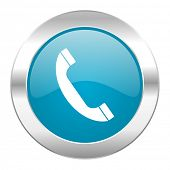 phone internet blue icon