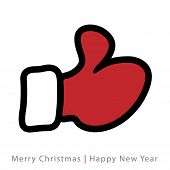 red mitten thumb up icon
