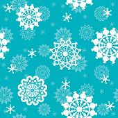 winter background, vector seamless pattern with snowflakes