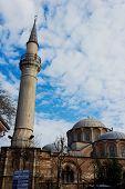 Exterior view of Chora church or Kariye Camii in Istanbul. Kariye Museum