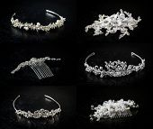 Set Of Six 6 Wedding Diadems