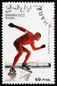 Postage Stamp Sahara 1992 Speed Skating
