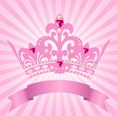 stock photo of crown jewels  - Beautiful background with crown for true princess - JPG