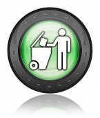 Icon, Button, Pictogram Trash Dumpster