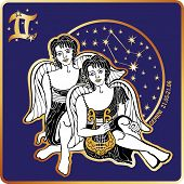 Horoscope.Gemini zodiac sign with boys twins
