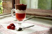 Delicious Strawberry Sweet Cream Cheese Desert Homemade
