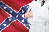 foto of flag confederate  - Concept of US national healthcare system  - JPG