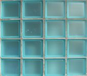 Square Glass Tiles From Window In Bright Blue