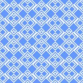 Seamless blue squares geometric pattern. Vector art.