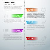 Timeline Text Visual Infographics Template