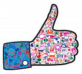 Hand With Social Media Icons