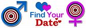 Find Your Date Target Banner