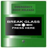 Emergency Door Release Button Green
