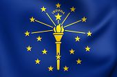 Flag Of Indiana, Usa.