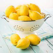 Fresh lemons.