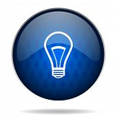 bulb internet blue icon