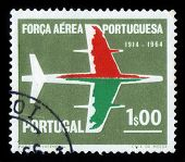 Silhouette Of Aircraft, 50 Anniversary Of Portuguese Air Force