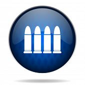 bullets internet blue icon
