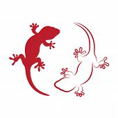 Vector Image Of An Gecko