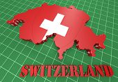 Map Illustration Of Switzerland