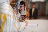 The Wedding Signature. Bride Signing The Register