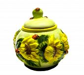 Sugar Bowl With Sunflowers