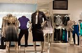 picture of department store  - Fashion retail store in new modern shopping mall - JPG