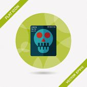 X-ray Flat Icon With Long Shadow,eps10