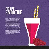 pic of fruit shake  - Smoothie vector concept - JPG