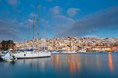 image of piraeus  - Dawn in Mikrolimano marina in Athens - JPG