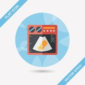 Ultrasound Baby Flat Icon With Long Shadow,eps10