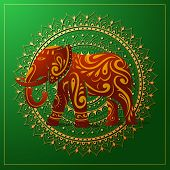 Elephant With Orient Ornament