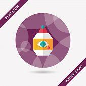 Eye Drop Flat Icon With Long Shadow,eps10