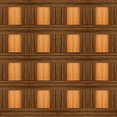 Wood design with Ebony and light wood