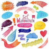 Watercolor vector bubbles