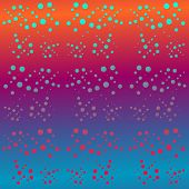 Decorative rainbow spotted background