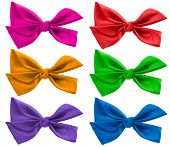 Colorful Bow Ribbon Isolated On White