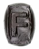 Handmade Ceramic Letter F