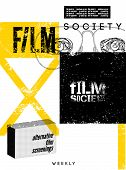 Typographic Grunge Design for Film Society. Vector illustration.