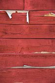 Weathered red barn siding poster