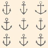 picture of anchor  - Set of anchors - JPG