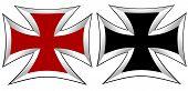 picture of maltese-cross  - art black and white Maltese Cross vector - JPG